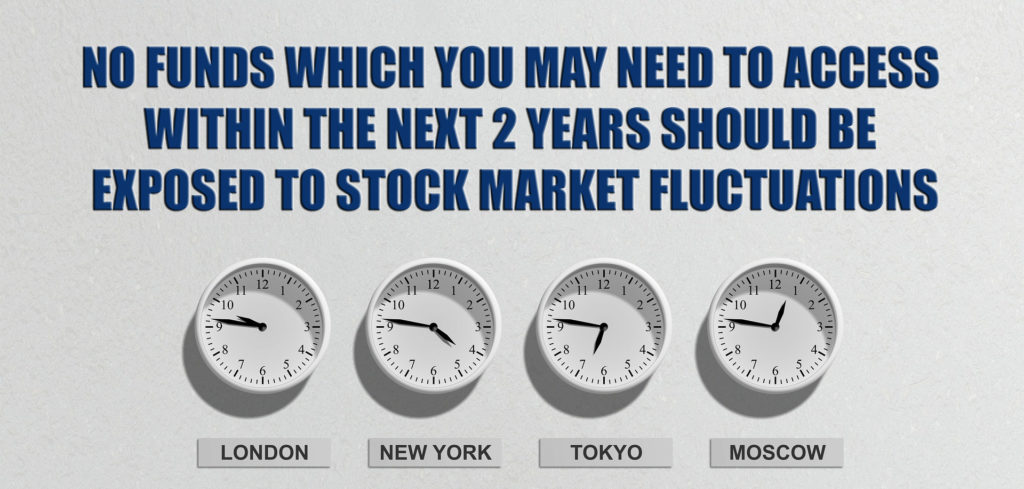 NO FUNDS TO WHICH YOU MAY NEED TO ACCESS WITHIN THE NEXT TWO YEARS SHOULD BE EXPOSED TO STOCK MARKET FLUCTUATIONS.