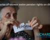 Quarter of women waive pension rights on divorce